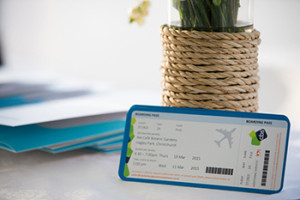 Boarding pass invitation